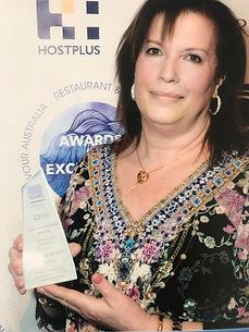 Teresa Bruno with Lifetime Achiever awar