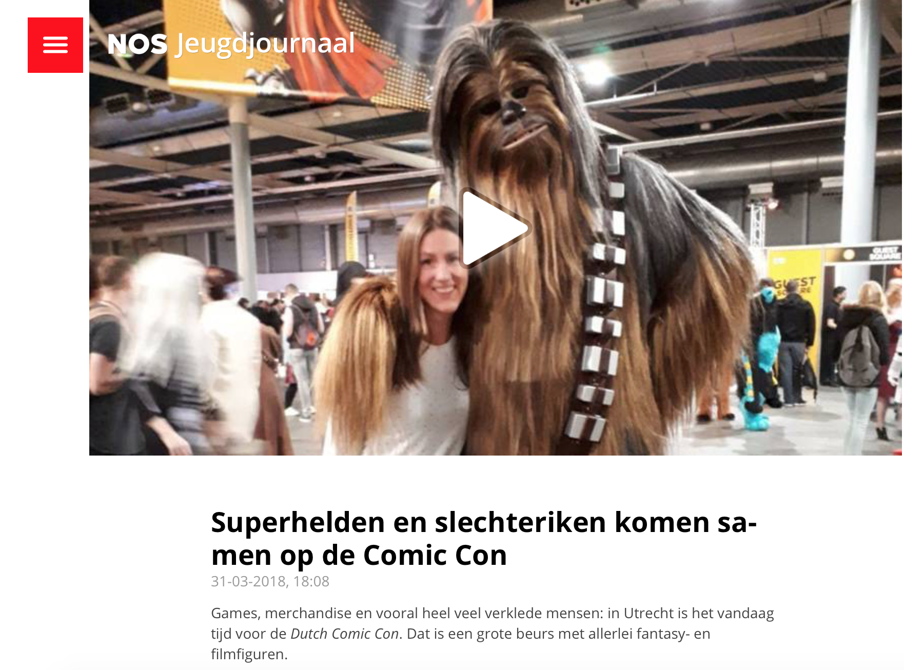 Jeugdjournaal over Dutch Comic Con