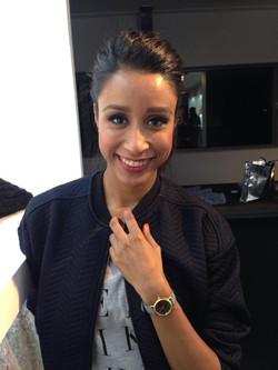 Dutch TV host Airen Mylene wearing T
