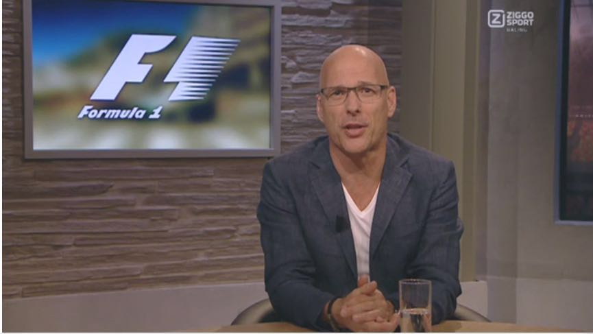 TV host Rob Kamphues wearing Alan Re