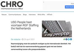 USG People wordt RGF Staffing The Nether