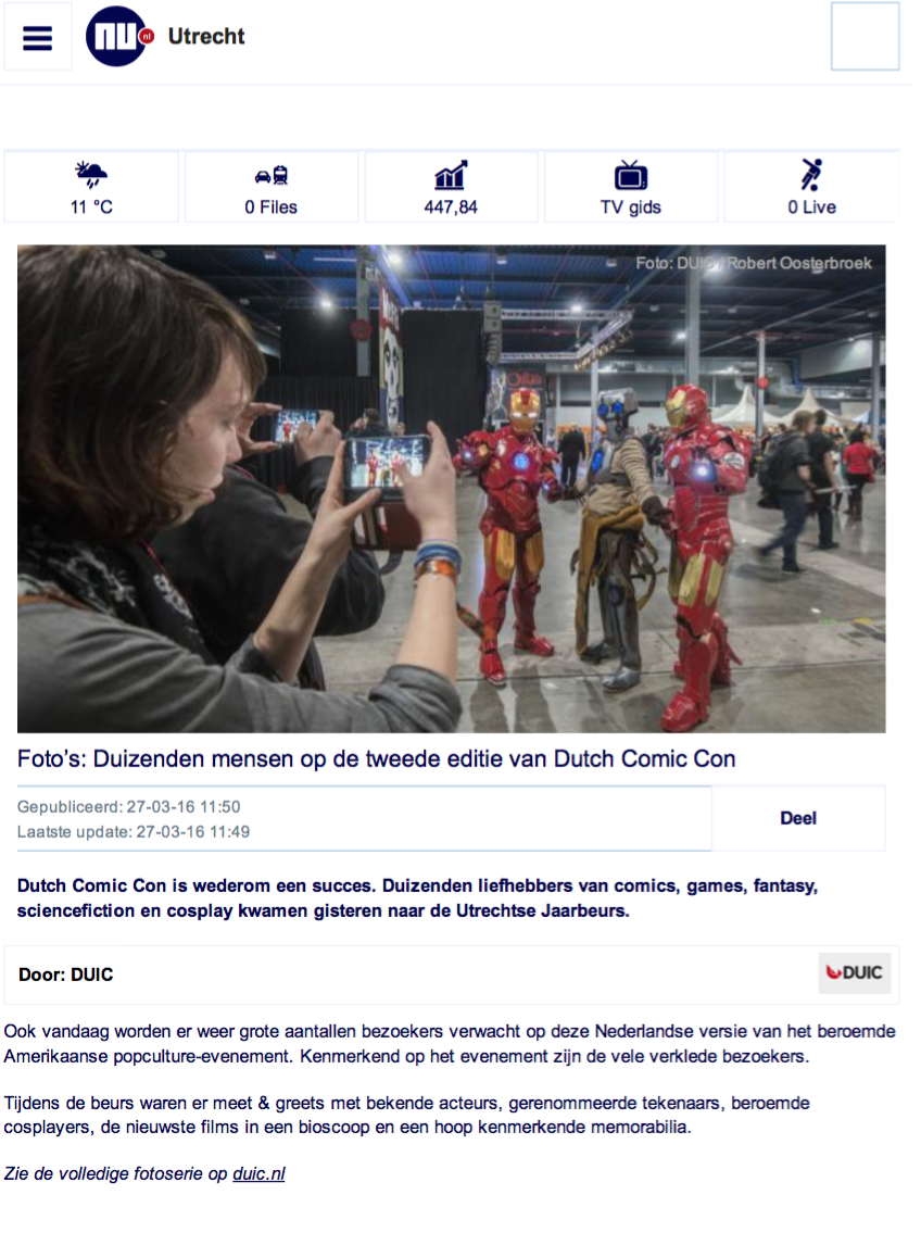 Dutch Comic Con @ NU.nl