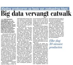 Big data artikel Telegraaf