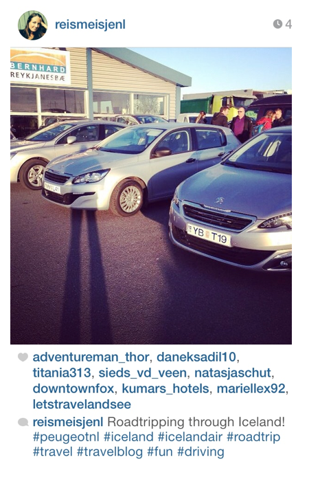 Instagram post blogger Peugeot press