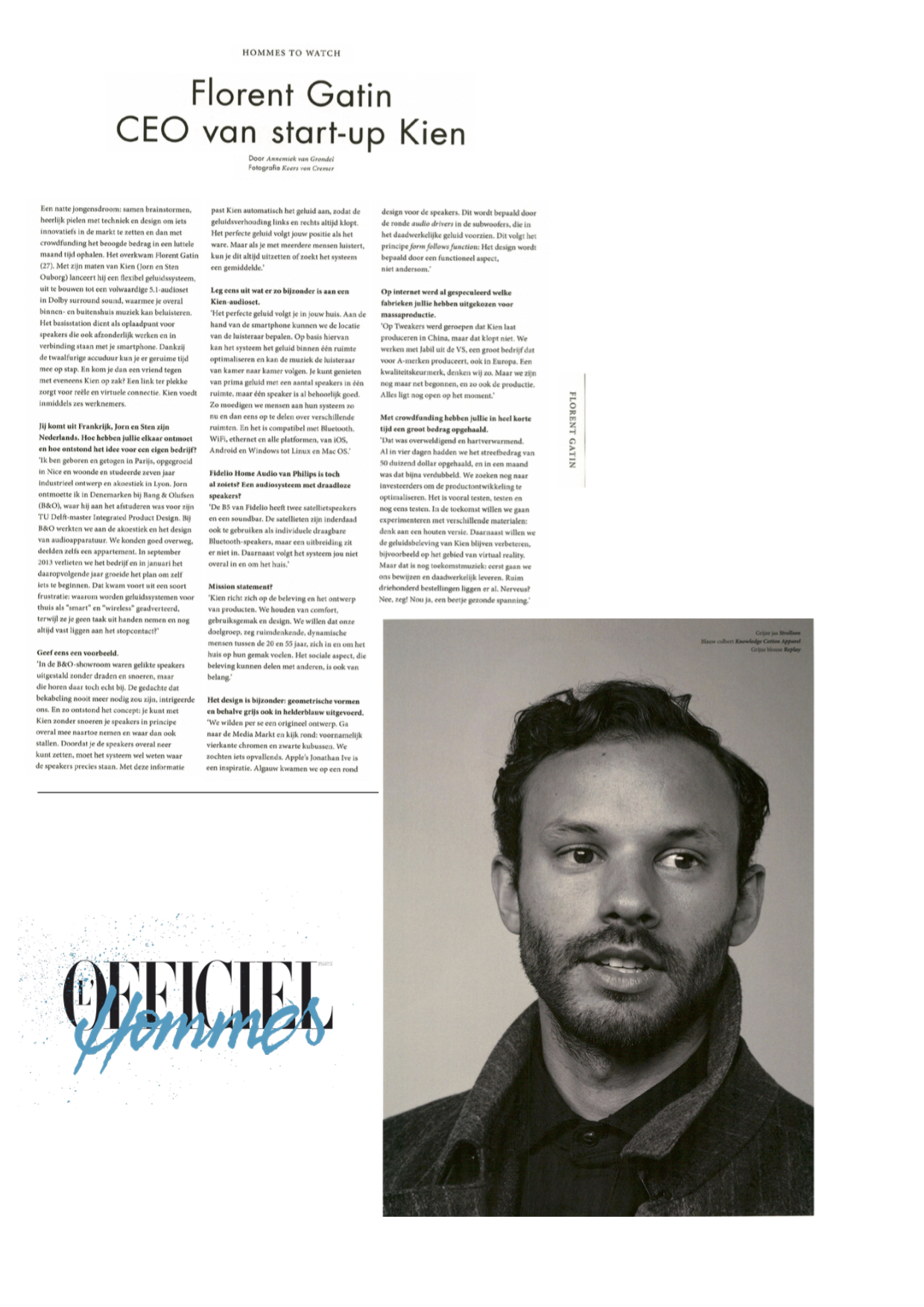 Interview Kien CEO in L'Officiel