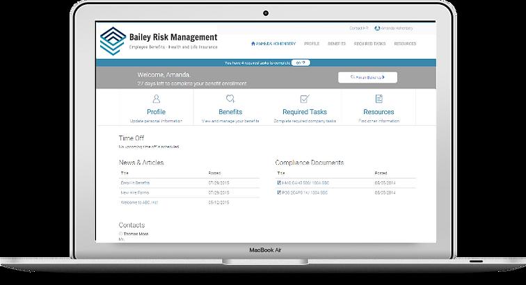Inrollit BRM employee home page comp RBC
