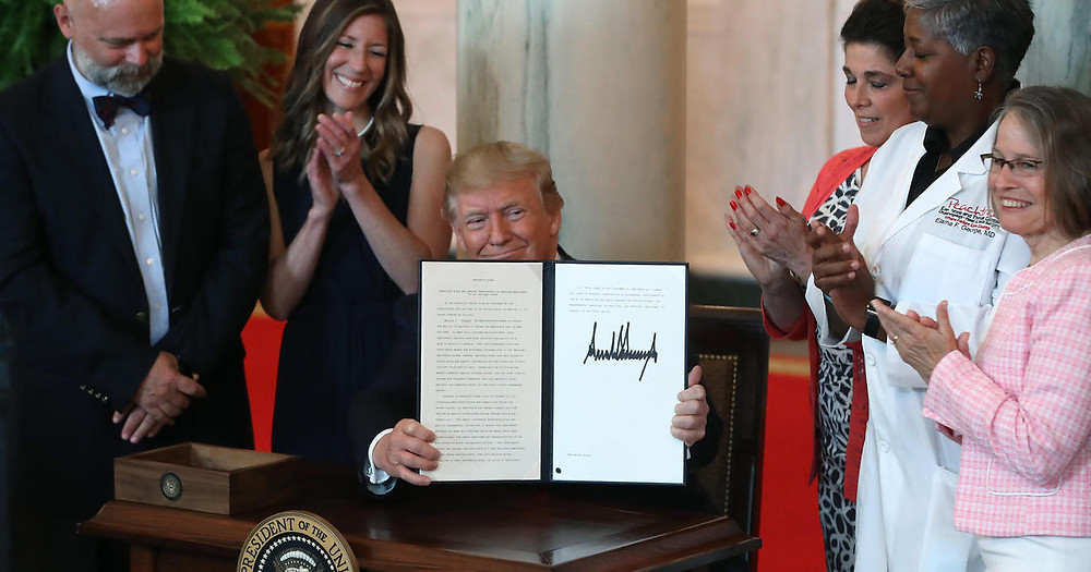 President Trump signs Executive Order on Monday