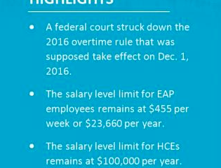 Federal Court Strikes Down 2016 Overtime Rule