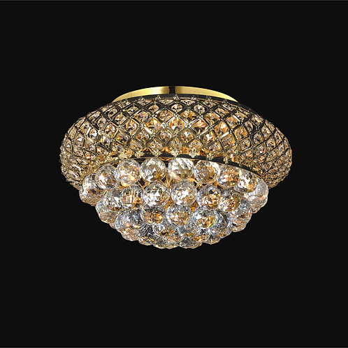 6 Light Crystal Flushmount,