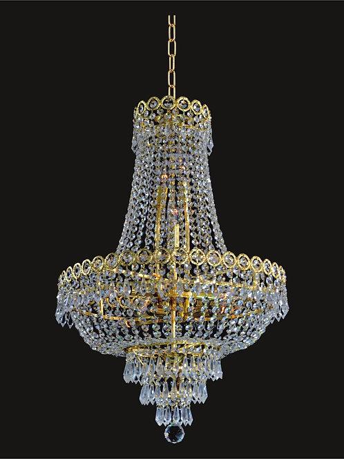 12 Lt crystal chandelier - Gold