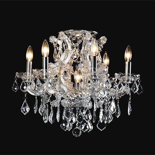 6+1 Light Crystal Flushmount