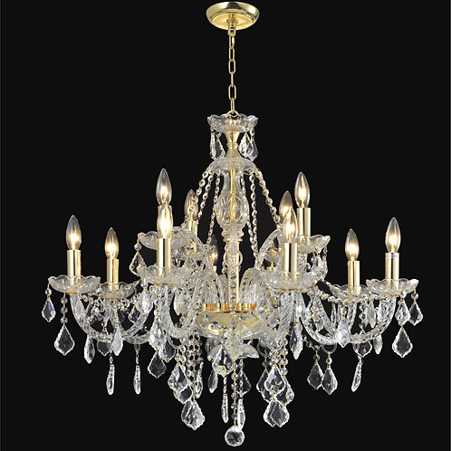 12 Lt Crystal  chandelier