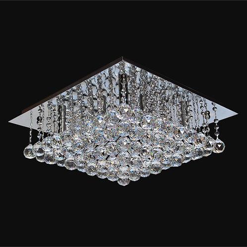 8 Light Crystal Flushmount;