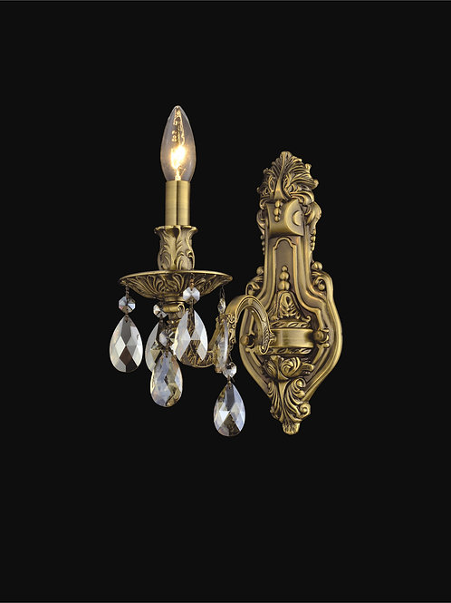 1 Light Crystal Wall Sconce