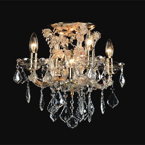 4+1 Light Crystal Flushmount