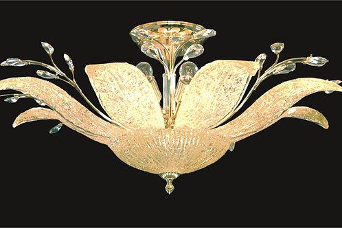 8+2 light Semi-Flush with Murano Glass