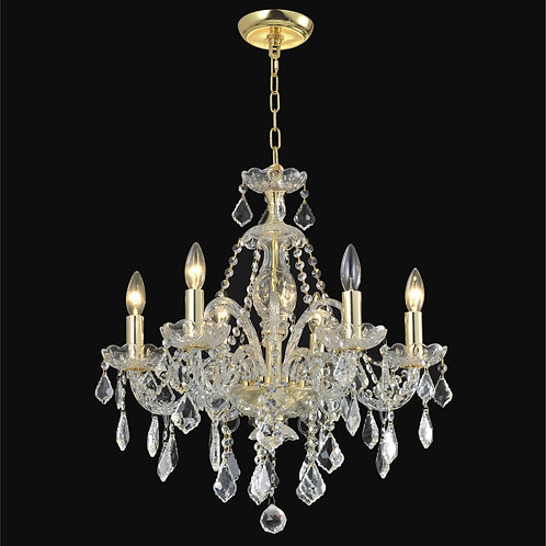 6 Lt crystal chandelier
