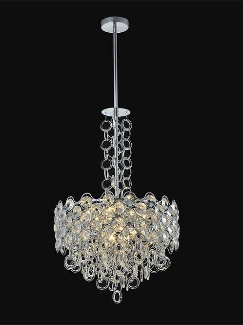 8 Light Crystal Pendant Chandelier