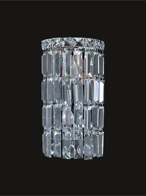 2 Lt crystal wall sconce