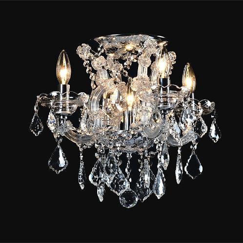 4+1 Light Crystal Flushmount,