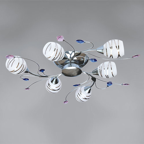 6 Light Flushmount
