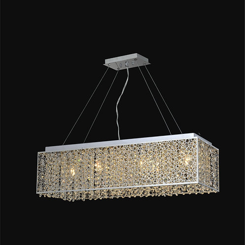 12 Light Crystal Pendant,
