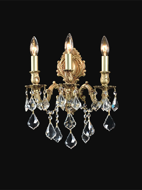 3 Light Crystal Wall Sconce