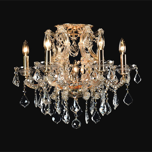 6+1 Light Crystal Flushmount,