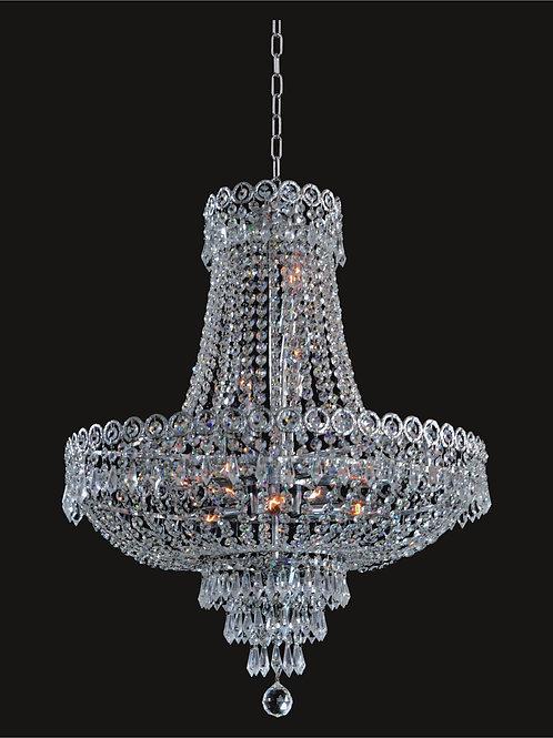 12 Light Crystal Chandelier - Chrome