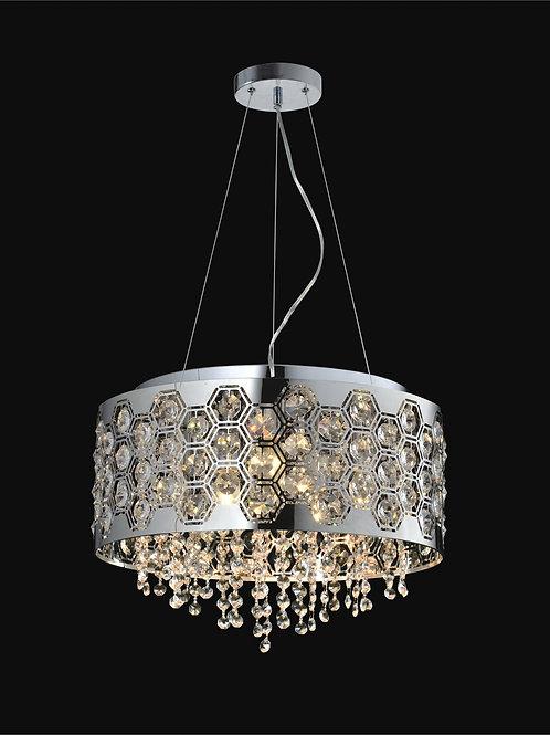 6 Light Crystal Pendant,