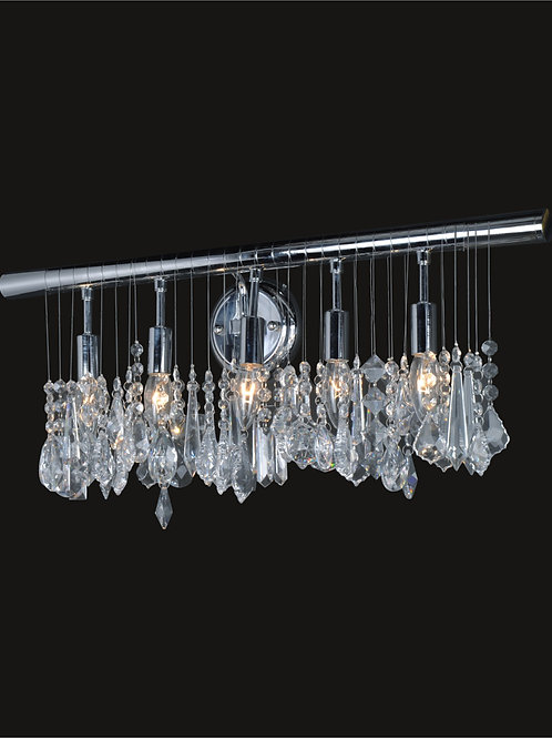 5 light wall sconce with crystals