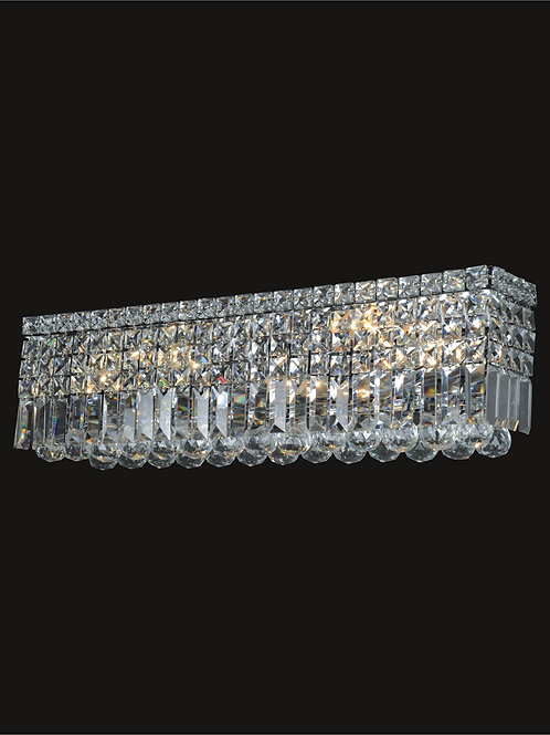 6 Light crystal wall sconce