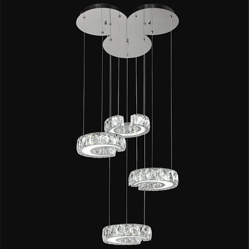 4 Circles of LED Crystal Pendant,