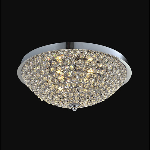 6 Light Crystal Ceiling Mount,
