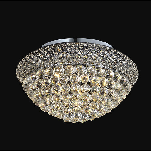 9 Light Crystal Flushmount,