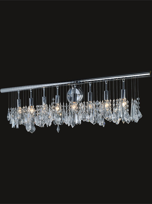 8 light wall sconce with crystals