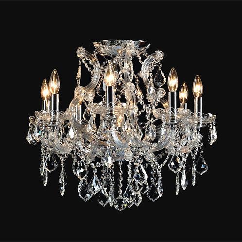 8+1 Light Crystal Flushmount