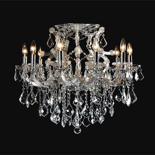 10+1 Light Crystal Flushmount