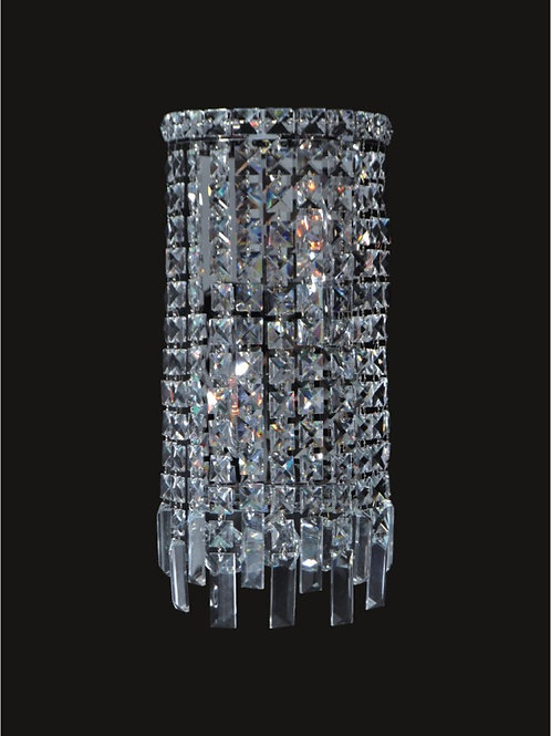 4 Lt crystal wall sconce