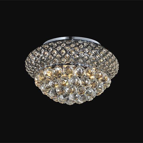 6 Light Crystal Flushmount,