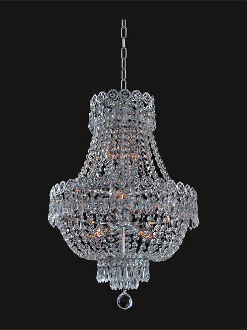 8 Lt crystal chandelier,