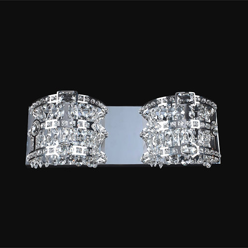 2 Light Crystal  Wall Sconce