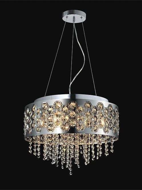 8 Light Crystal Pendant,