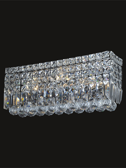 4 Light crystal wall sconce