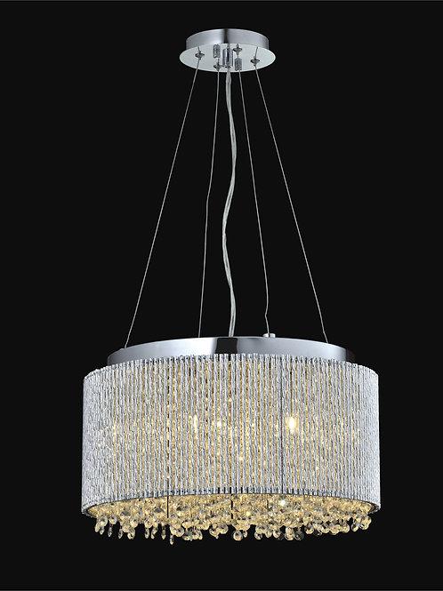 6 Light Crystal Pendant