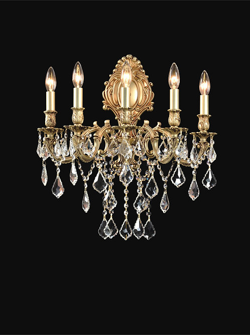 5 Light Crystal Wall Sconce