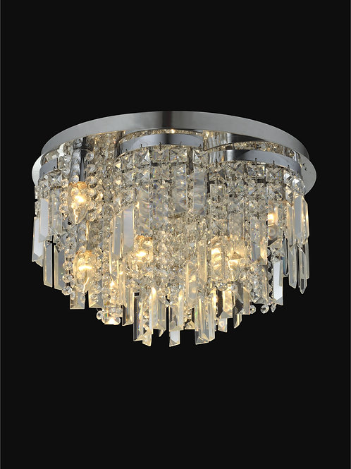 10 Light Crystal Ceiling Mount,