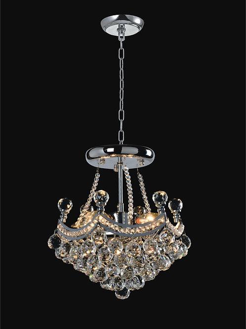 4 Light Crystal Chandelier;