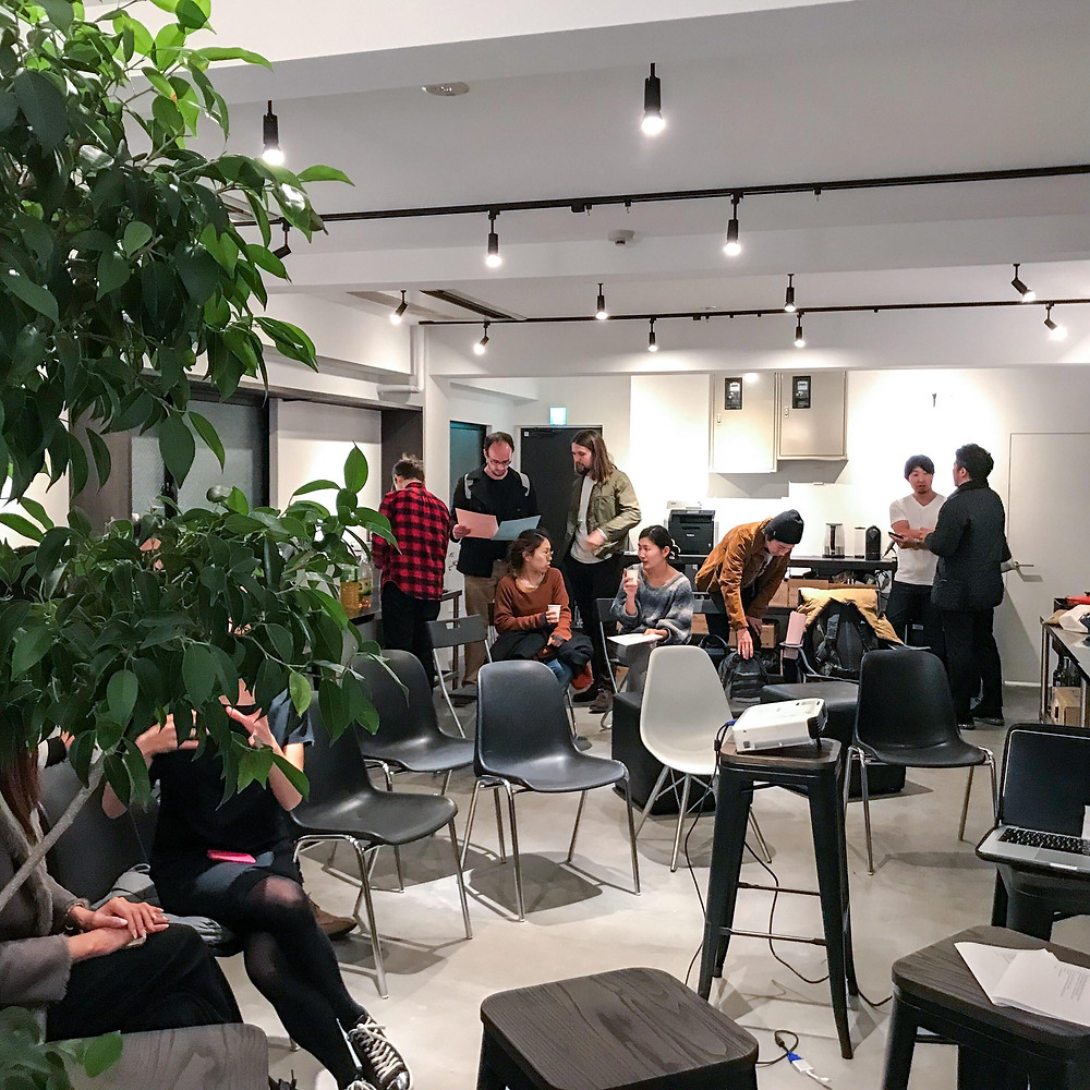 Oliver Murphy's event at factoria, the international co-working community and space in Tokyo