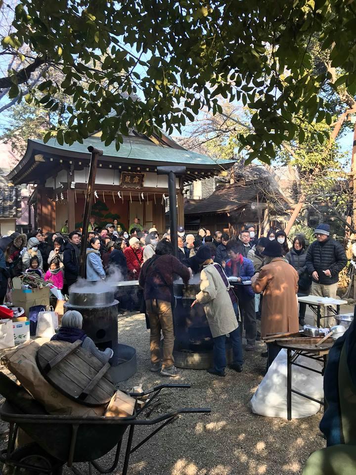 馬橋稲荷神社,七草粥,どんど焼き,阿佐ヶ谷